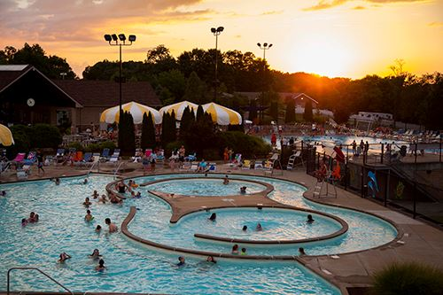 Sunset at the Aquatic Center Pool