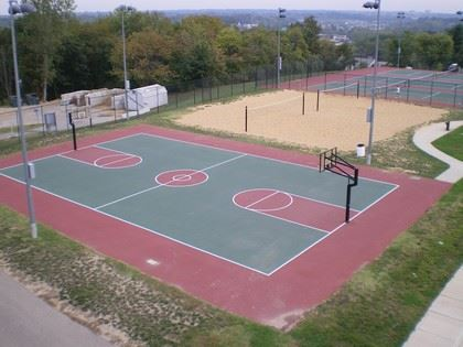 Basketball and Sand Volleyball Courts at Schroeder Park
