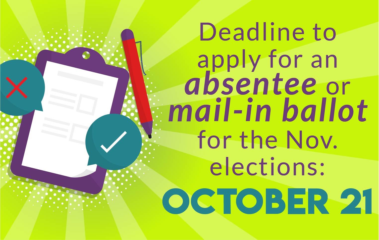 News Section Template - Absentee and Mail in Ballots