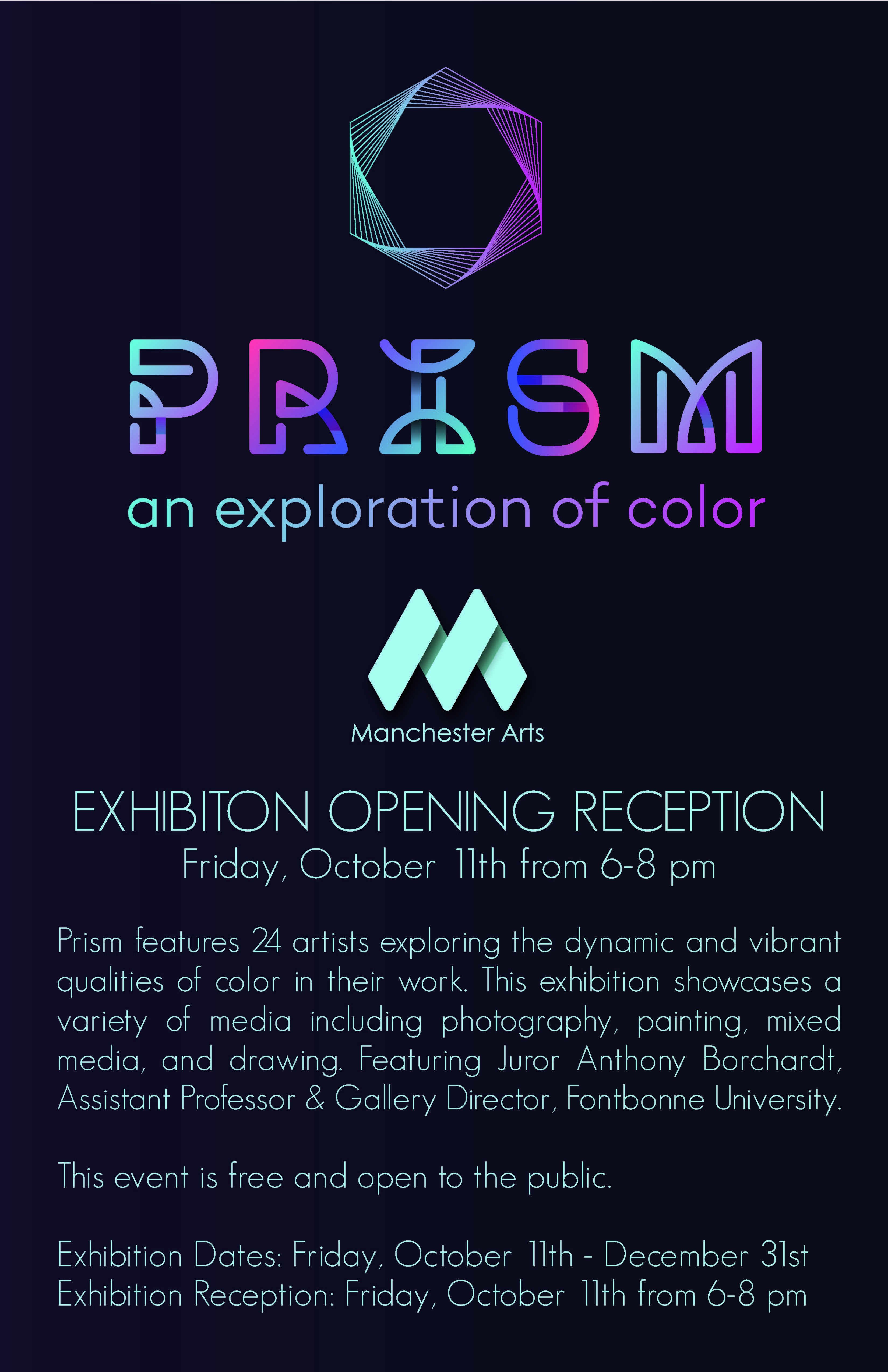Prism Exhibition Poster 11x17
